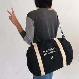 POSHMARK black lightweight duffle bag NWOT
